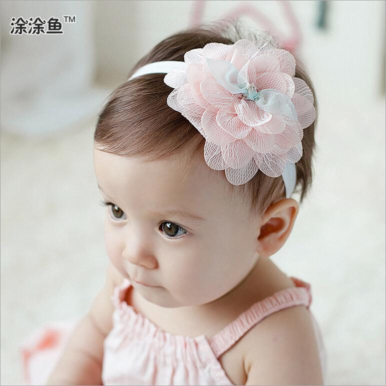 5pcs/lot Baby Flower Headband Litte Girl hairbands Infant Headband Baby Girl Bow Newborn hair accessories 10pcs(China (Mainland))