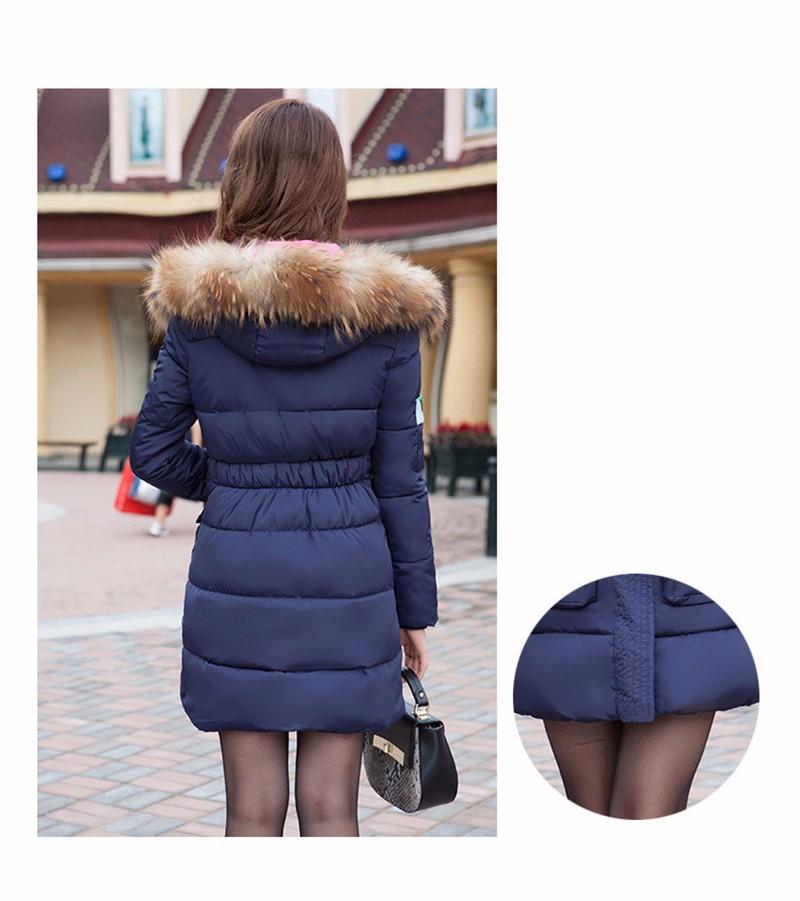 Скидки на 2016 Новый Вниз проложенный женский женщин Корейской Тонкий и длинный разделы толще куртки воротник пальто зимы Женщин пальто большой размер
