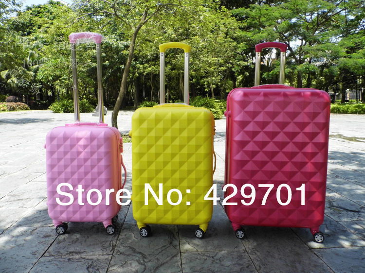 Diamond pattern abs trolley universal wheels luggage(China (Mainland))