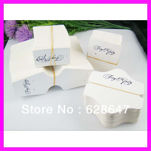 Wholesale fashion jewelry display cards custom set. for necklace hanging card.earring card.garment tags.(China (Mainland))