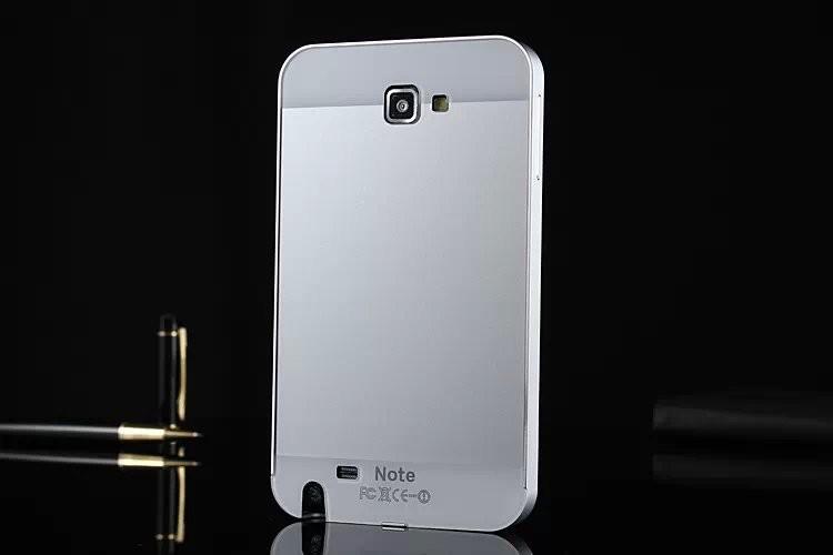 1pcs/lot ультра тонкий алюминиевый кадр для i9220 двойной гибридной бампер случае + металлопластика обратно чехол для samsung n7000 i9220 дело