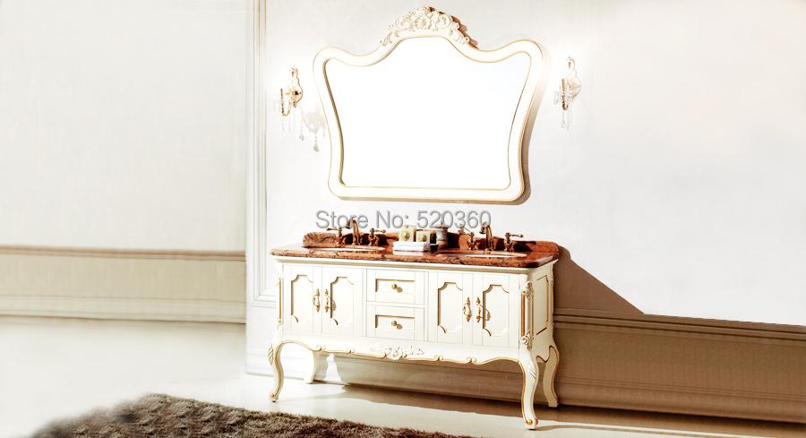 ivory and description golden oak, rainforest brown thicken marble cabinet and mirror, Bathroom Vanities<br><br>Aliexpress