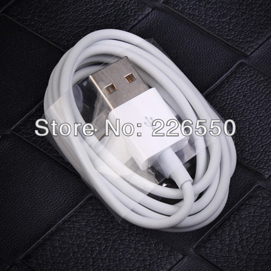 China post office 10pcs/Lot data sync USB cable/data cable/charger cable for iphone 4/iphone 4S//ipod touch(China (Mainland))