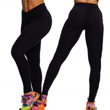 European and American fashion show thin v-shaped tall waist exercise height pants sweatpants
