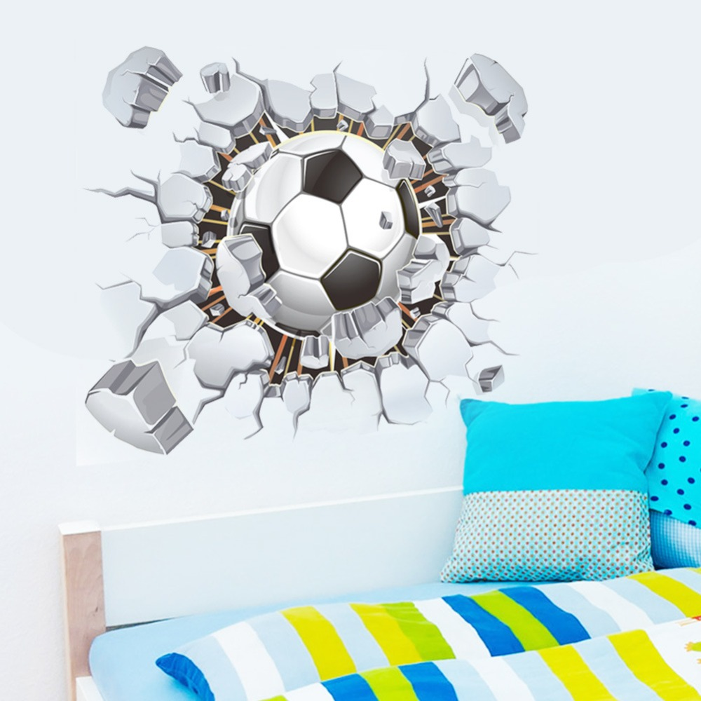 Online get cheap soccer wall decals for Cheap wall mural decals