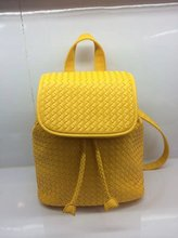 2014 New Women Fashion Daily Backpack Faux Leather PU Woven Backpacks For Girls Cute Bags(China (Mainland))