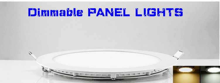HOT!NEW Dimmable LED Panel Light Recessed LED Ceiling Downlight 3W 4w 6w 9w 12w 15w 25w DHL FREE(China (Mainland))
