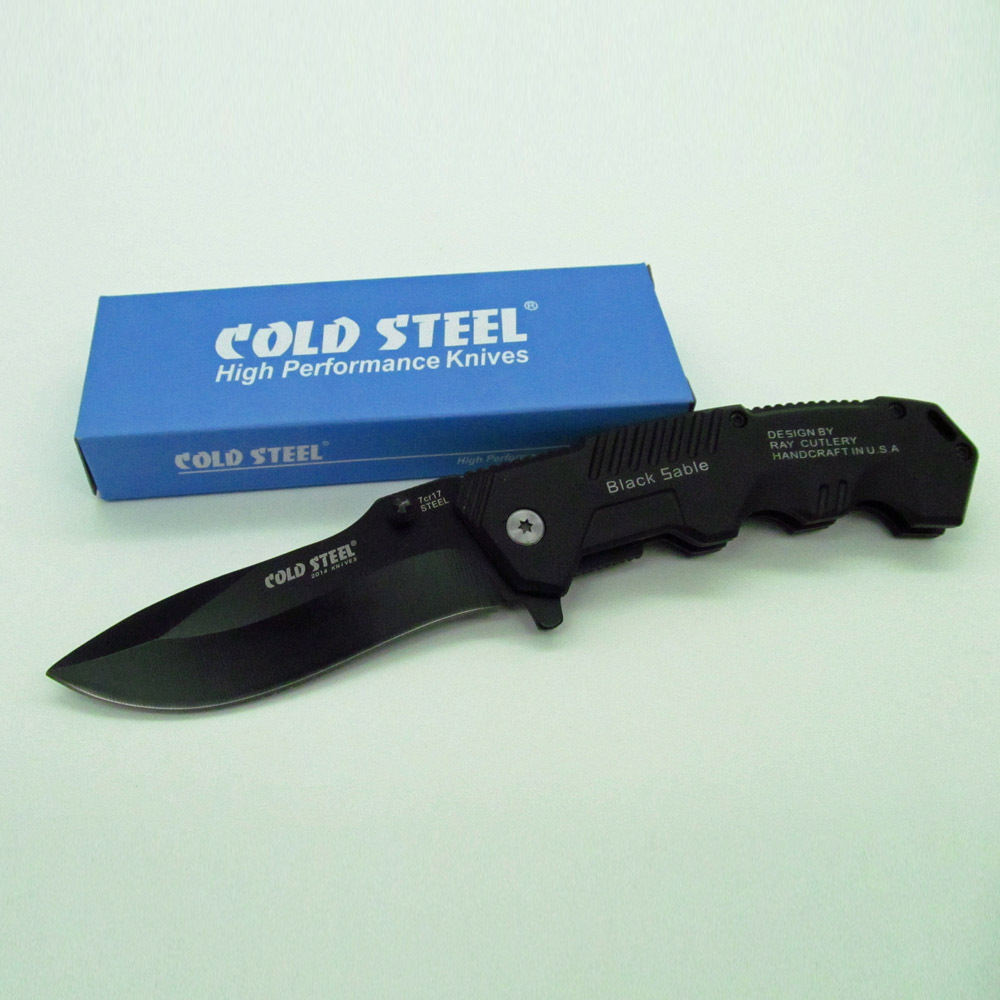 Cold Steel HY217 Outdoor Camping Knives Hunting rescue Pocket Knife Tactical Folding cuchillos Knives navaja tactico Black(China (Mainland))