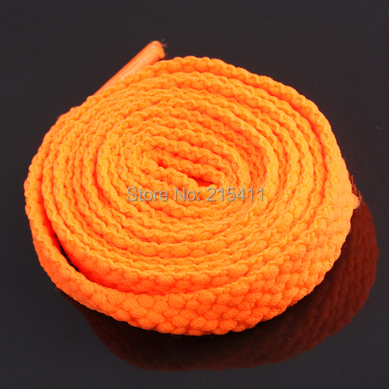 Гаджет  1Pair Plain Orange Flat Shoe Laces Sneakers Canvas Shoestrings Shoelaces Boots Laces None Обувь