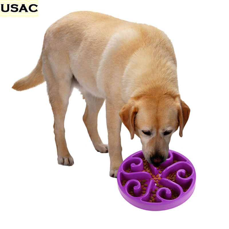 Anti Choke Pet Dog Bowl Slow Eating Pet Bowl Healthy Prevent Choking Gluttony Obesity Puzzle Feeder Comedero Perro Plegable 2(China (Mainland))