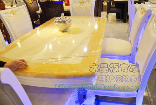 Dining table soft glass tablecloth table mat waterproof oil crystal table cloth(China (Mainland))