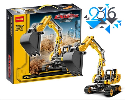 2016 New decool 3359 Track mobile excavator Toy building blocks kids Technology Series Site building Compatible with Legoe gift(China (Mainland))