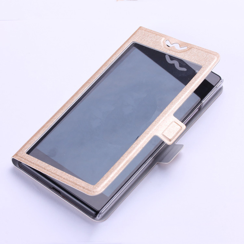 2016 Luxury Mobile Phone Cases For Lenovo Lemon K3 A6000 View Open Window Flip Phone Case Cover For Lenovo A 6000 With Stander(China (Mainland))
