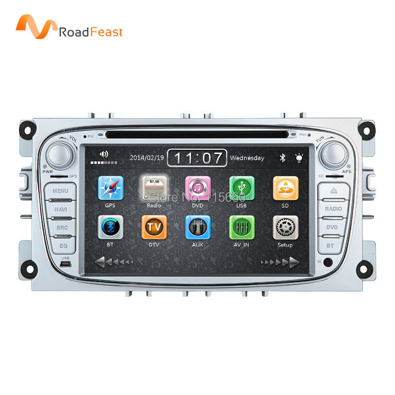 HD 7inch car dvd gps autoradio player multimedia navigation Ford focus II 2 mondeo S-max Cmax bluetooth 1080P Free map - Roadfeast Car Parts store