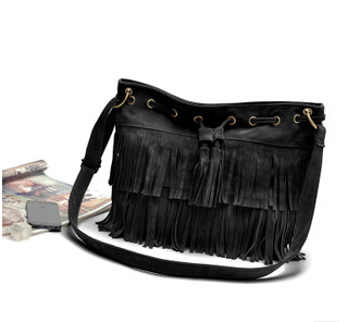 Free Shipping ! Top-Hot-promotion Lady tasselshoulder Tassel bag women's party bag outdoor one shooulder party bag holder(China (Mainland))