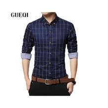 GUEQI Brand Men's Shirts Long Sleeve Men Casual Shirts M-5XL 1311