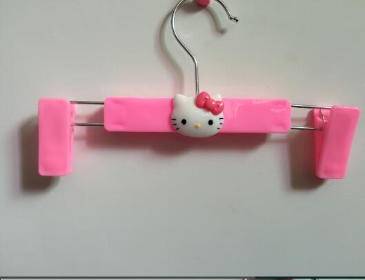 (10 Pcs/Lot) Kawaii Hello KItty Plastic Home Clothes Rack Clothing Rack Hanger Best For Underwear Sock(China (Mainland))