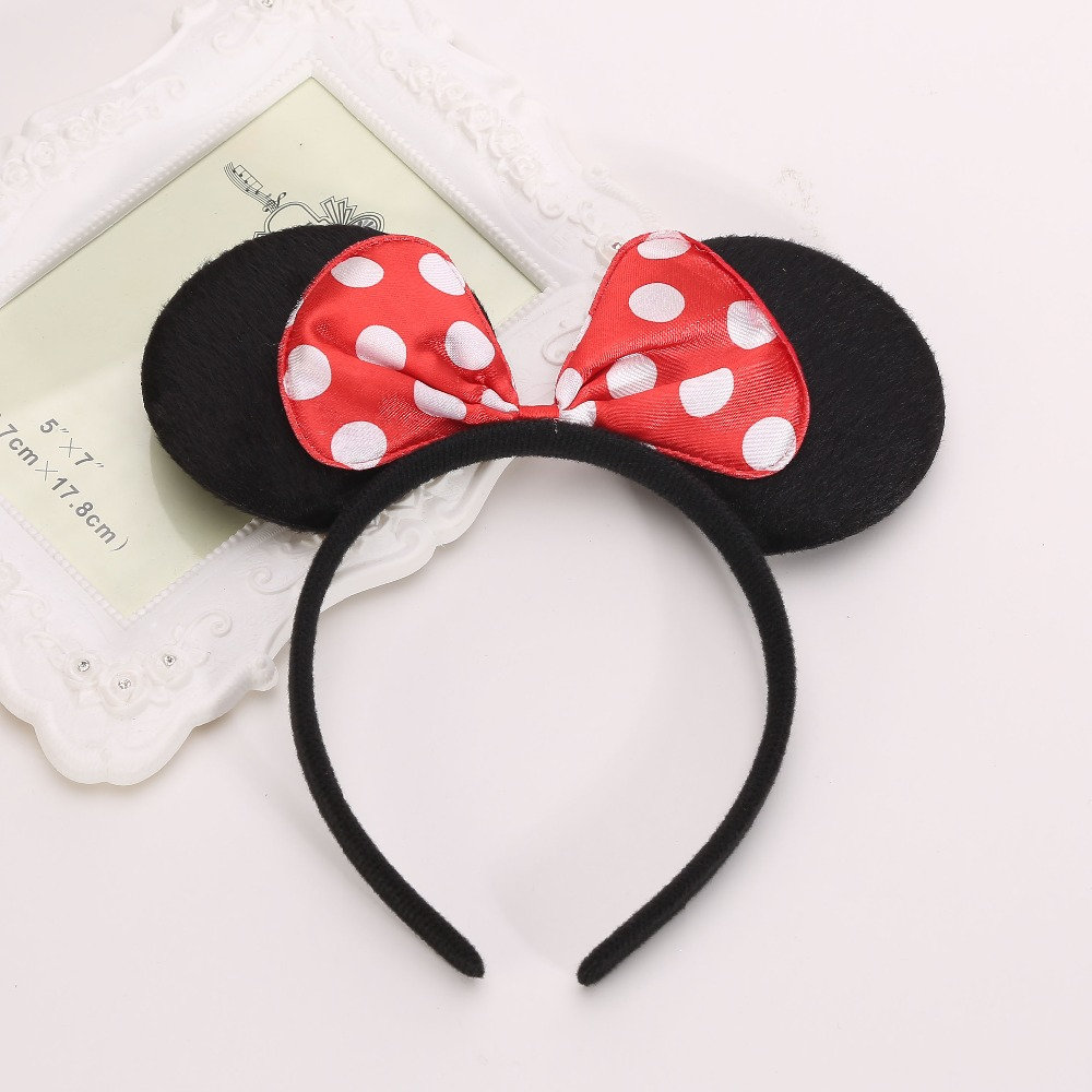 2pcs Minnie Mickey Ears Headband For Kids Hair Accessories Girls Party Supplies Decorations(China (Mainland))
