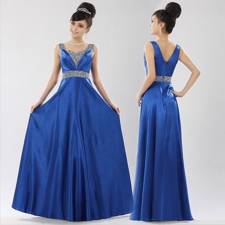Classic Royal Evening Dress,Silk Made Floor length long elegant dress,with Shiny Decoration, Ball Gown, Good Quality Night Dress - Continent store
