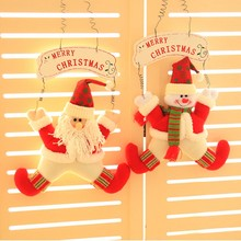 Buy Hanging Santa Claus Snowman Doll Wall Door Ornament Wooden Welcome Board Sign Xmas Decoration Christmas for $5.92 in AliExpress store