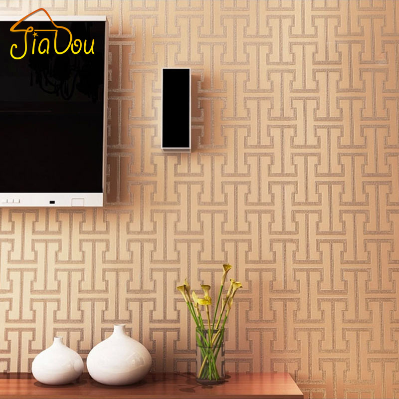 Uniwal Modern 3D Geometry Letter Stripe PVC Embossed Wallpaper Study Livingroom TV Sofa Background Wall paper Covering Roll(China (Mainland))