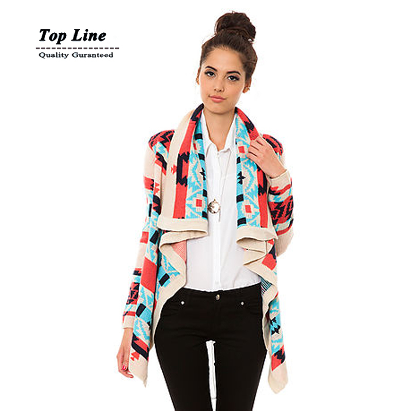 Best seller Bonfire cardigan Women Clothing New Fashion 2015 autumn female contast color knitted long sleeve sweater(China (Mainland))