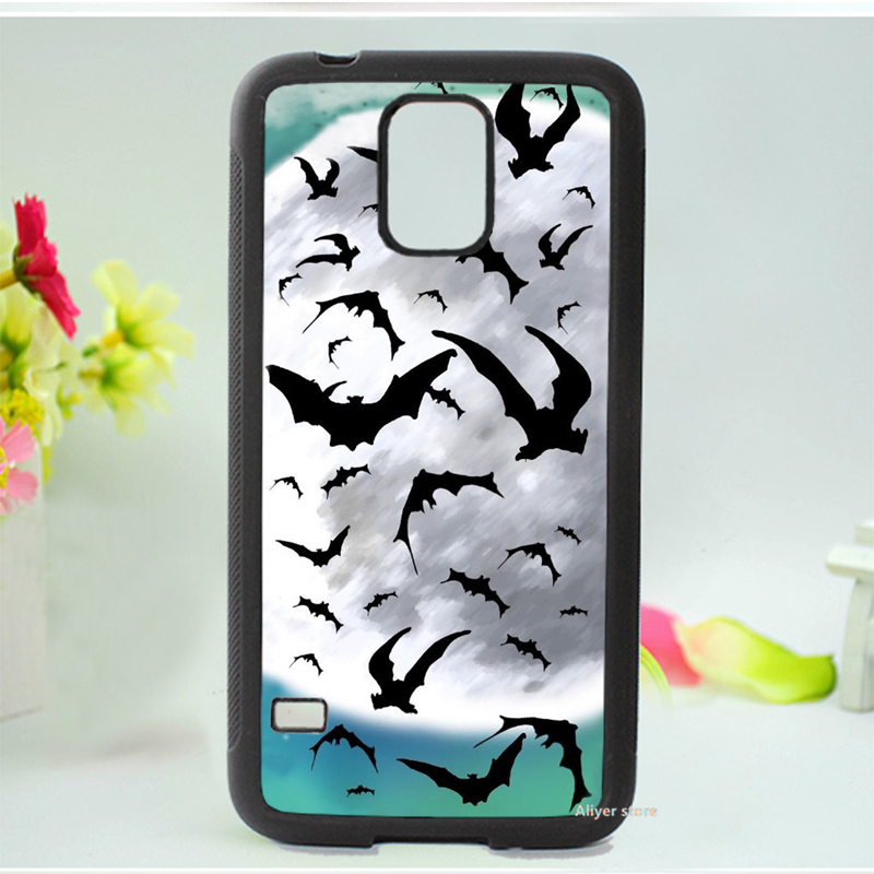 Vampire Bat Supernatural silhouette spooky moon fashion original phone case cover for Samsung galaxy S3 S4 S5 Note 2 Note 3(China (Mainland))
