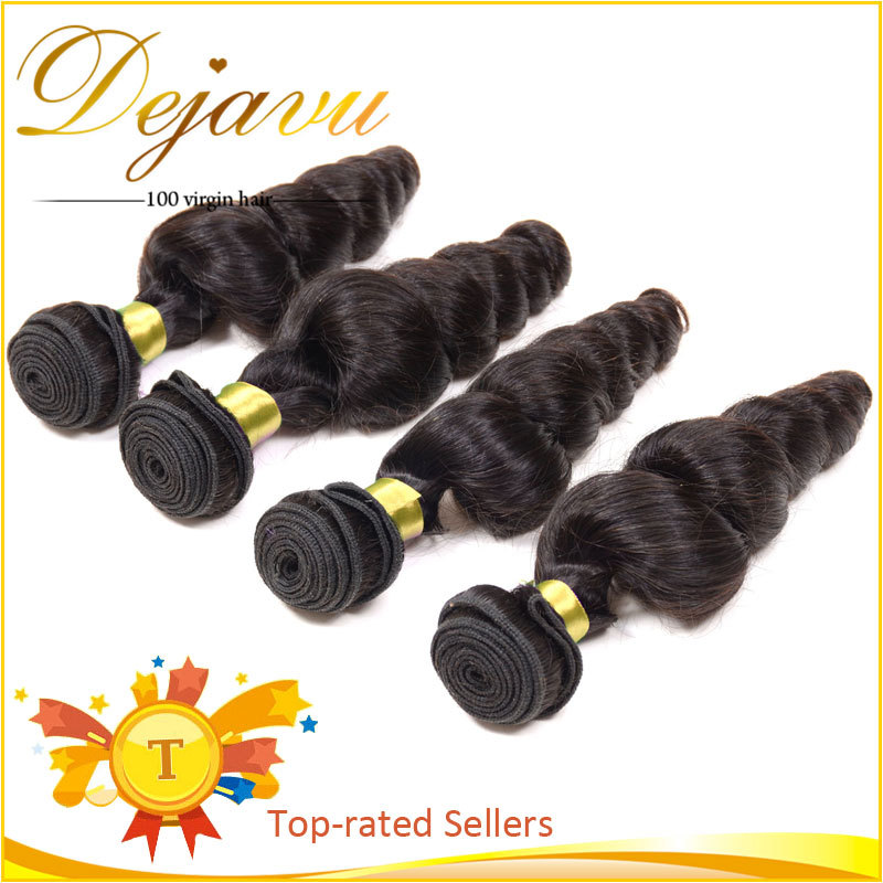 6A Unprocessed Virgin Hair Mongolian Loose Curly Hair,100 Cheap Human Hair Weave Bundle Mongolian Hair Loose Wave 4 Bundle Deals(China (Mainland))