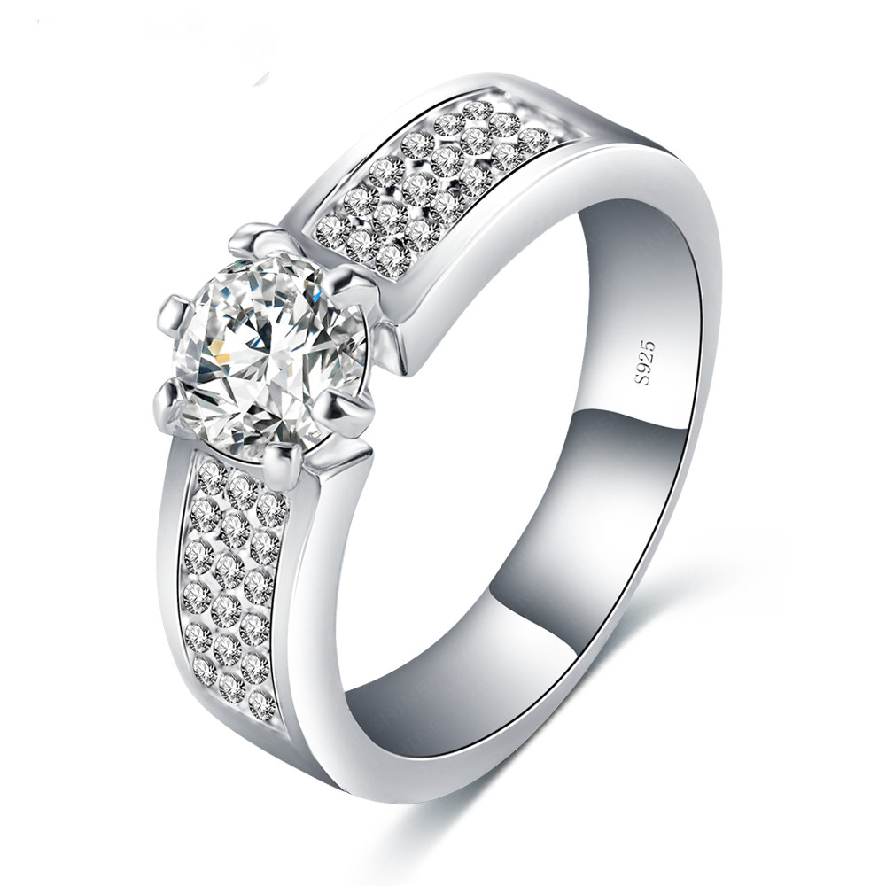 S925 Luxury Women Unique Rings Bijoux Hearts and Arrows Cubic Zirconia Inlayed Charming Wedding Rings BRI0262-B(China (Mainland))