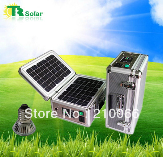 solar portable system 20w solar home system indoor outdoor solar led lighting system phone solar charge fast battery power