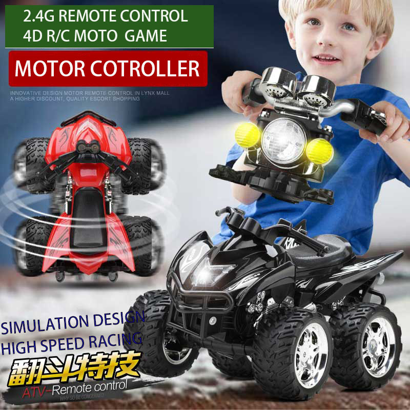 NEW 1:12 simulation 2.4G 4d remote control high speed racing motorcycle head shape controller amazing toys gift for boy