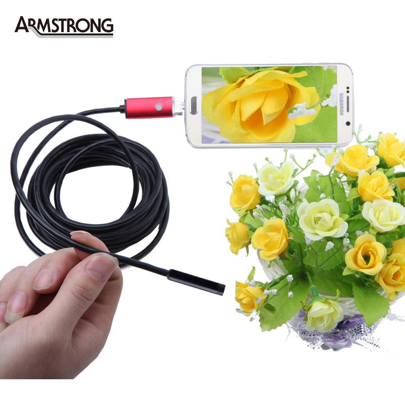 8mm Lens Red USB Android Endoscope 5M Mini Waterproof Camera Endoscopio Android Endoscoop HD Inspection Snake Camera Endoscope(China (Mainland))