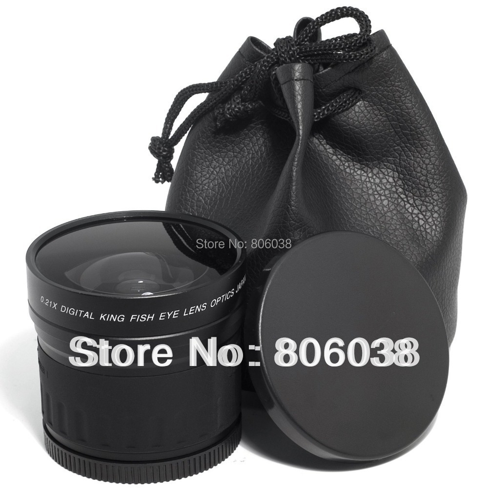 Lightdow 52mm 0.21X Fisheye Lens for Canon Nikon D700 D300 D200 D90 D70 Nikon D3000 D3100 D3200 D5000 D5100 D5200 DSLR Camera(China (Mainland))