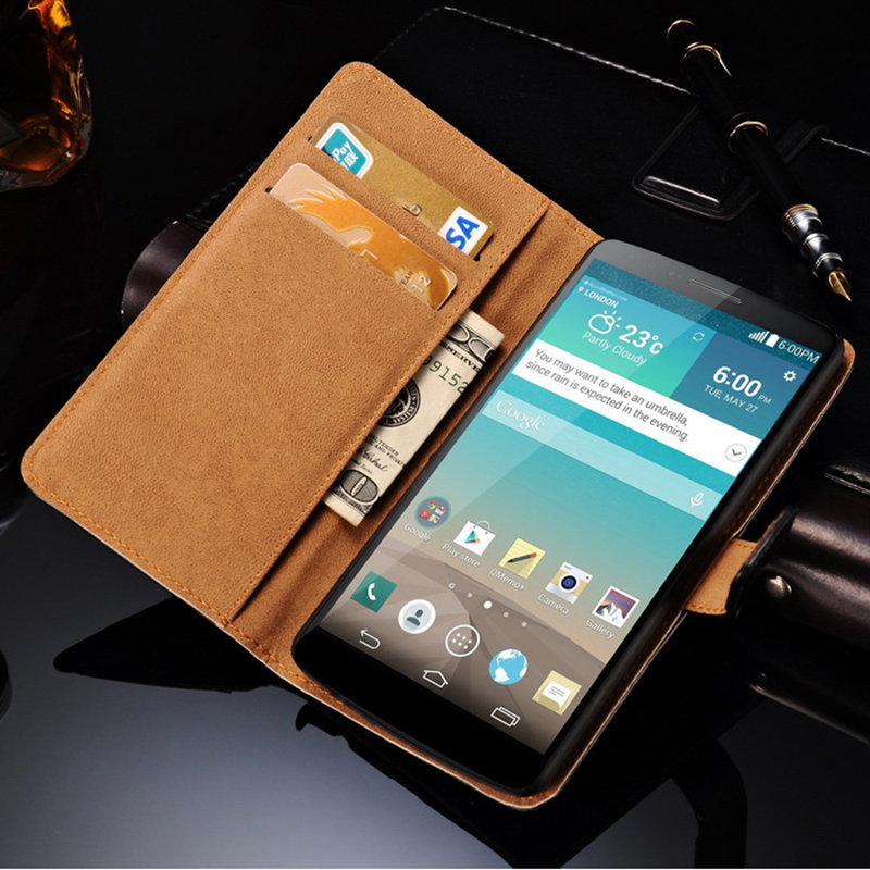 G3 Vintage Flip Wallet Genuine Leather Case For LG Optimus G3 D850 D855 D830 Luxury Phone Bag Coque Cover With Card Slot Black(China (Mainland))