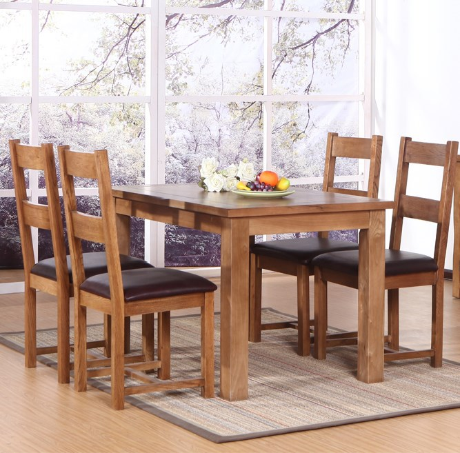 European style wood tables minimalist modern oak dining for Modern oak dining table