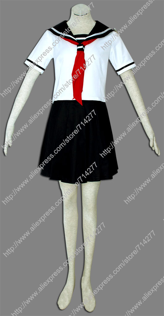 Free shipping Custom cheap Ai Cosplay Costume (Summer) from Hell Girl(China (Mainland))