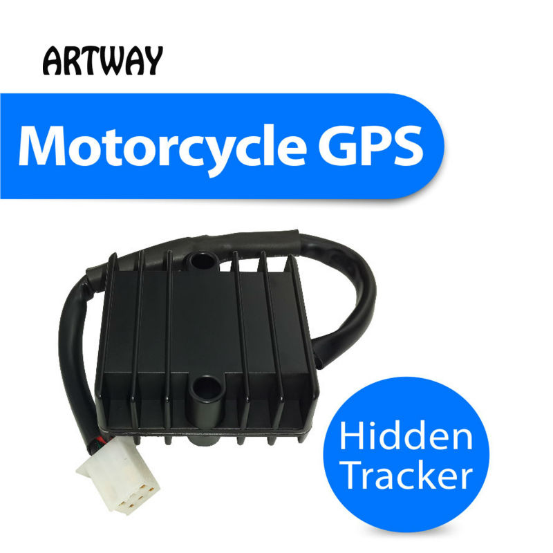 T805 Motorcycle GPS tracker with power cable rectifier and hidden wireless GSM security alarm plus anti theft lost remote lock <br><br>Aliexpress