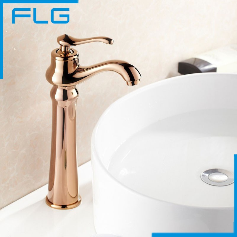High Quality Single Handle Rose Gold Faucet Bathroom Sink Mixer Tap Basin Faucets Hot and Cold Water Torneira(China (Mainland))