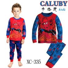 Kids Boys Pajamas Sleepwear Clothes Sets Long Sleeve Cotton Super Heros Ironman Batman Spiderman Captain America