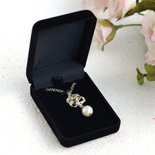 2016 Hot Sale Wholesale 1pc/lot Black Jewelry Pendant Display Box High-grave Necklace Box Velvet Jewelry Packaging Box(China (Mainland))