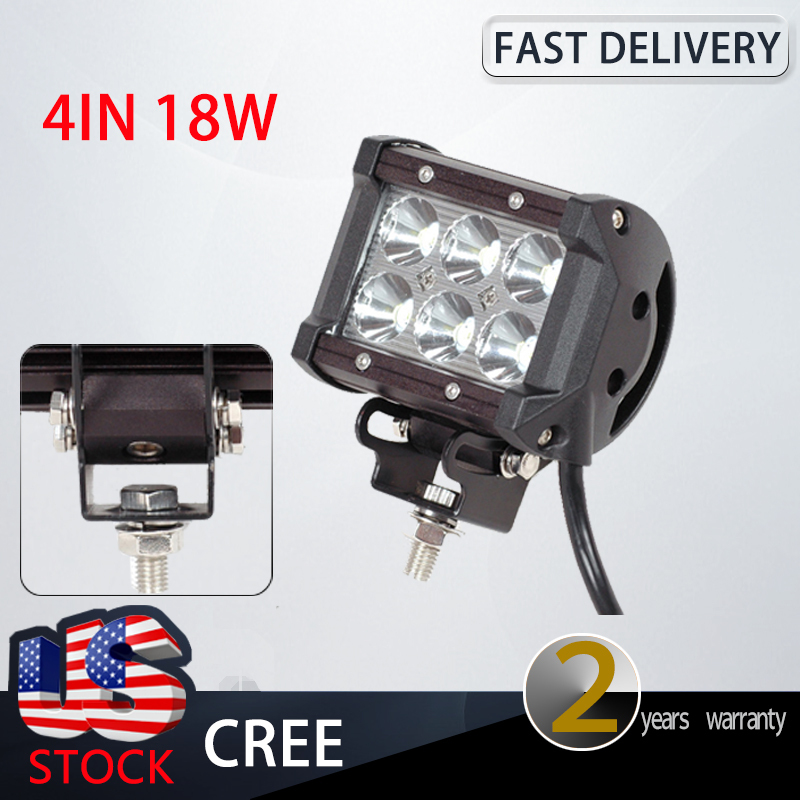 Free Shipping New Hot Sale 4'' 18W LED Light Bar Spot For Offroad Work Lamp 1260LM 10-30V With High Quality(China (Mainland))
