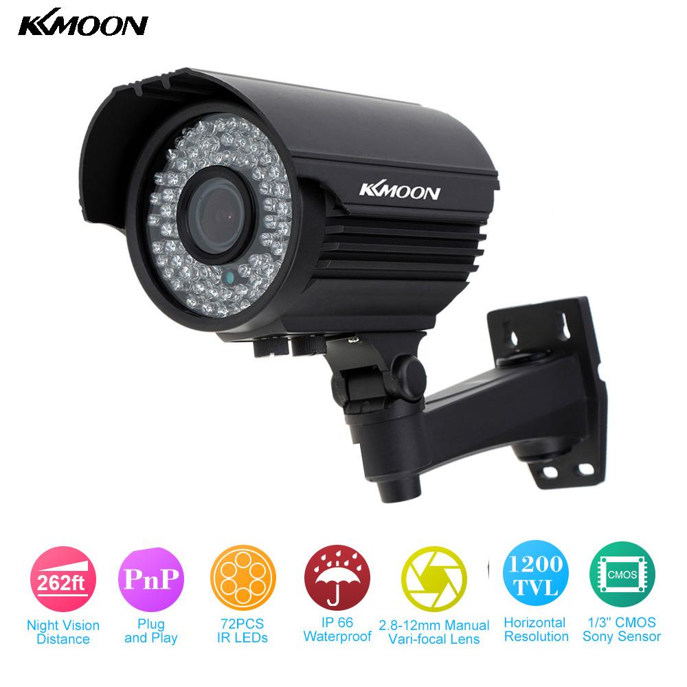 KKmoon Waterproof HD 1200TVL CCTV Camera 72 IR LEDs 2.8~12mm Zoom Varifocal Security Camera Outdoor IR-CUT Surveillance Camera(China (Mainland))