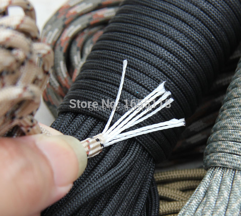 50ft New Paracord 550 Paracord Parachute Cord Lanyard Rope Mil Spec Type III 7 Strand100FT FREE