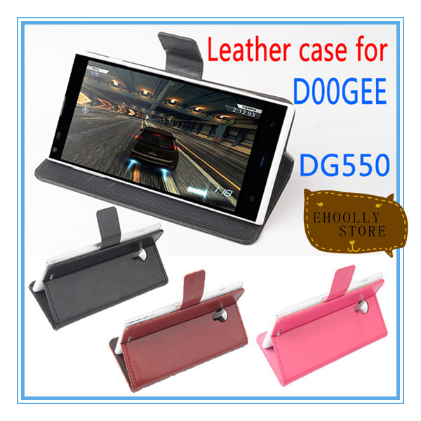 DOOGEE DG550 case android smart phone leather case 3 colors save 20%(China (Mainland))