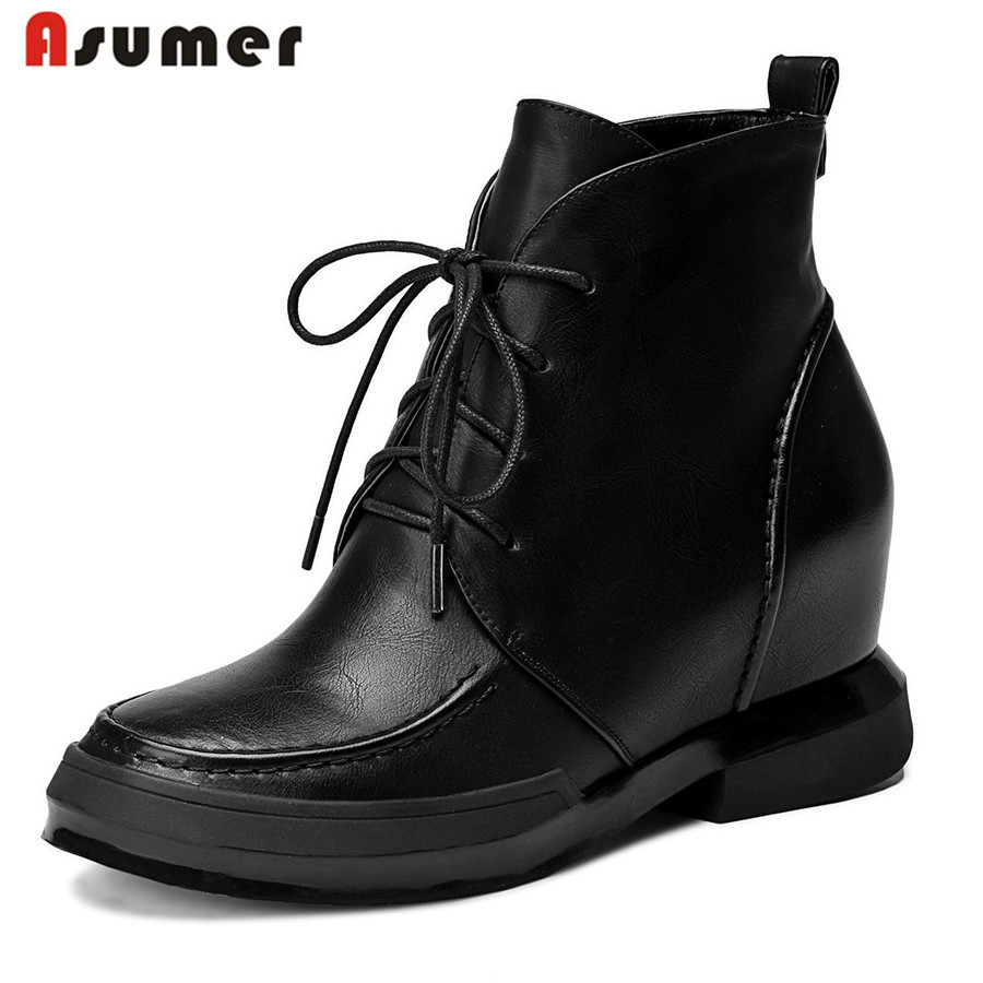 2015 hot sale fashion high quality soft leather high heels ankle boots lace up round toe elegant gray black women boots<br><br>Aliexpress
