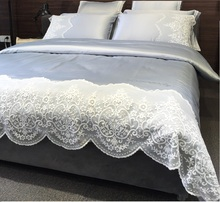 Europe and America Princess Palace Style Water Washed Silk Cotton Lace 6 Pieces High Quality Top Grade Summer  Bedding Setings(China (Mainland))