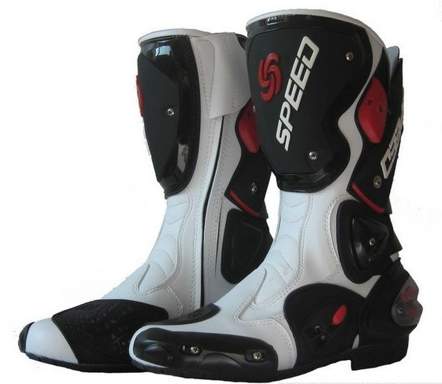 high quality white motorcycle boots Pro Biker SPEED Racing Boots,Motocross Boots,Motorbike boots SIZE: 40/41/42/43/44/45
