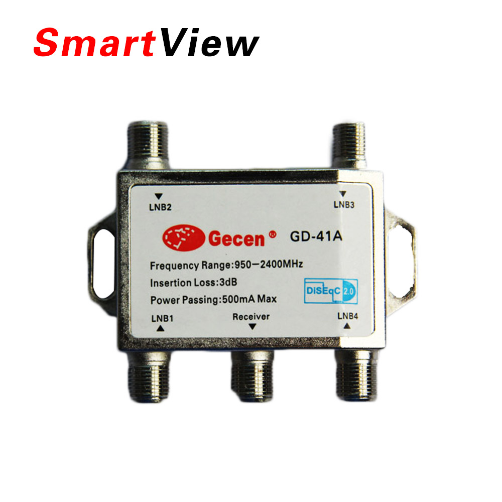 hot selling 4 in 1 GD-41A 4x1 DiSEqC Switch Satellites FTA TV LNB Switch for satellite receiver(China (Mainland))
