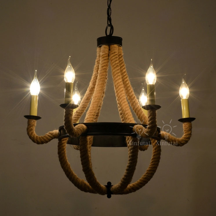 Antique Pendant Lights 6heads 6 E14 40w Bulbs Black And