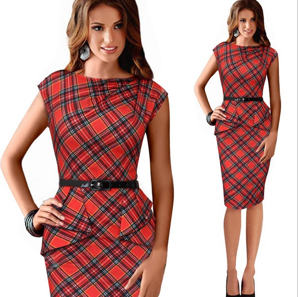 Платье из шотландки